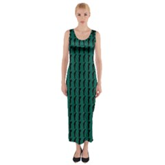 Golf Golfer Background Silhouette Fitted Maxi Dress