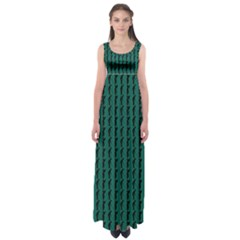 Golf Golfer Background Silhouette Empire Waist Maxi Dress