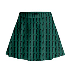 Golf Golfer Background Silhouette Mini Flare Skirt