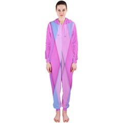 Graphics Colorful Color Wallpaper Hooded Jumpsuit (Ladies)