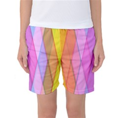 Graphics Colorful Color Wallpaper Women s Basketball Shorts