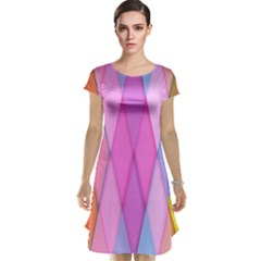 Graphics Colorful Color Wallpaper Cap Sleeve Nightdress