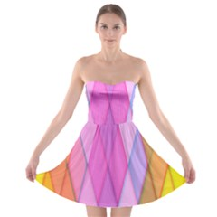 Graphics Colorful Color Wallpaper Strapless Bra Top Dress