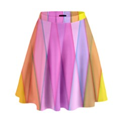 Graphics Colorful Color Wallpaper High Waist Skirt