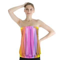 Graphics Colorful Color Wallpaper Strapless Top