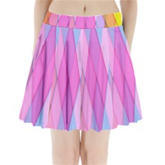 Graphics Colorful Color Wallpaper Pleated Mini Skirt