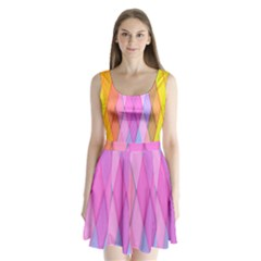 Graphics Colorful Color Wallpaper Split Back Mini Dress