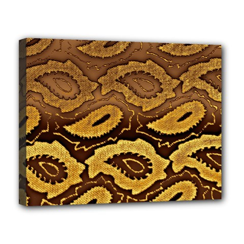 Golden Patterned Paper Canvas 14  x 11