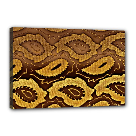 Golden Patterned Paper Canvas 18  x 12