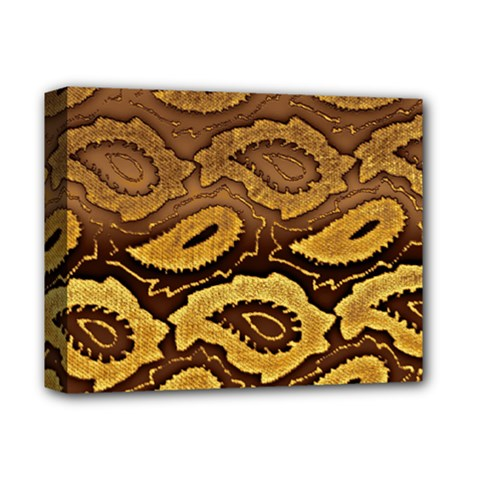 Golden Patterned Paper Deluxe Canvas 14  X 11