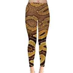 Golden Patterned Paper Leggings