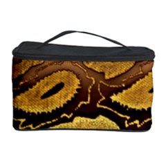 Golden Patterned Paper Cosmetic Storage Case