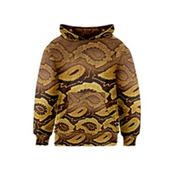 Golden Patterned Paper Kids  Pullover Hoodie