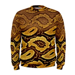 Golden Patterned Paper Men s Sweatshirt