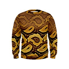 Golden Patterned Paper Kids  Sweatshirt
