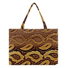 Golden Patterned Paper Medium Tote Bag