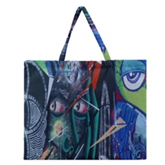 Graffiti Art Urban Design Paint Zipper Large Tote Bag
