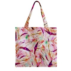 Grass Blades Zipper Grocery Tote Bag