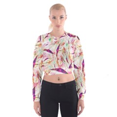 Grass Blades Women s Cropped Sweatshirt
