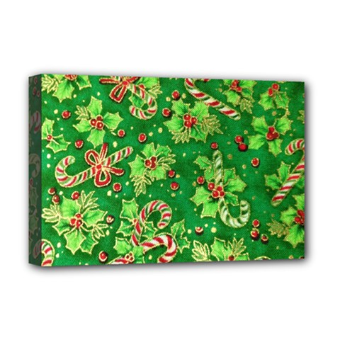 Green Holly Deluxe Canvas 18  x 12