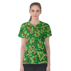 Green Holly Women s Cotton Tee