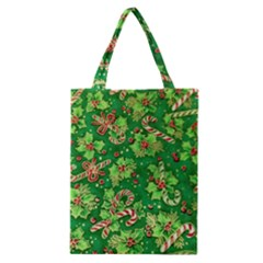 Green Holly Classic Tote Bag