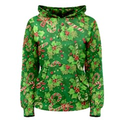 Green Holly Women s Pullover Hoodie