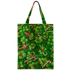 Green Holly Zipper Classic Tote Bag