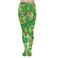 Green Holly Women s Tights