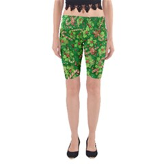 Green Holly Yoga Cropped Leggings