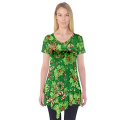 Green Holly Short Sleeve Tunic