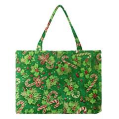 Green Holly Medium Tote Bag