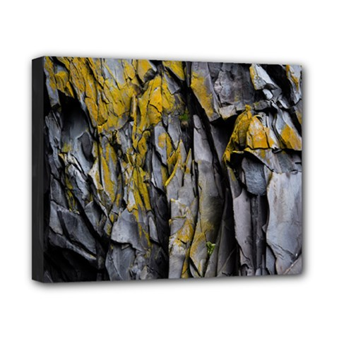 Grey Yellow Stone  Canvas 10  x 8
