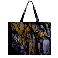 Grey Yellow Stone  Zipper Mini Tote Bag