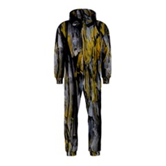 Grey Yellow Stone  Hooded Jumpsuit (Kids)
