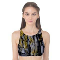 Grey Yellow Stone  Tank Bikini Top