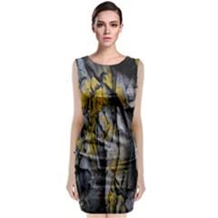 Grey Yellow Stone  Classic Sleeveless Midi Dress