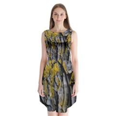Grey Yellow Stone  Sleeveless Chiffon Dress