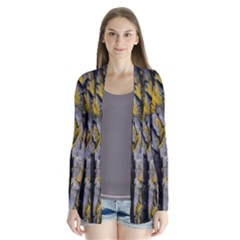 Grey Yellow Stone  Cardigans