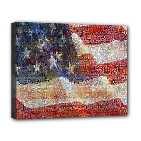Grunge United State Of Art Flag Deluxe Canvas 20  x 16