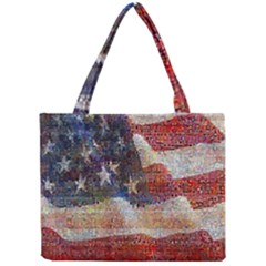 Grunge United State Of Art Flag Mini Tote Bag