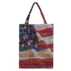 Grunge United State Of Art Flag Classic Tote Bag