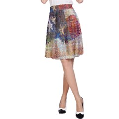 Grunge United State Of Art Flag A Line Skirt