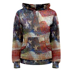 Grunge United State Of Art Flag Women s Pullover Hoodie