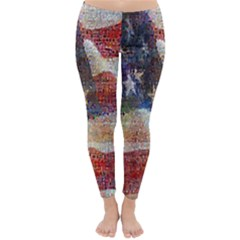 Grunge United State Of Art Flag Classic Winter Leggings