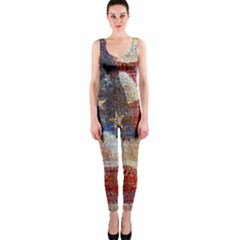 Grunge United State Of Art Flag Onepiece Catsuit