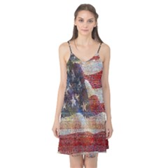 Grunge United State Of Art Flag Camis Nightgown