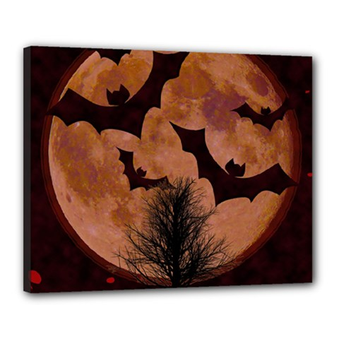 Halloween Card Scrapbook Page Canvas 20  x 16