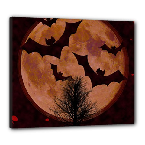 Halloween Card Scrapbook Page Canvas 24  x 20