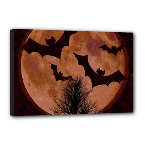 Halloween Card Scrapbook Page Canvas 18  x 12